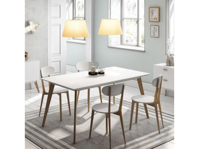 Table design compas blanche 90x160cm par zendart sélection