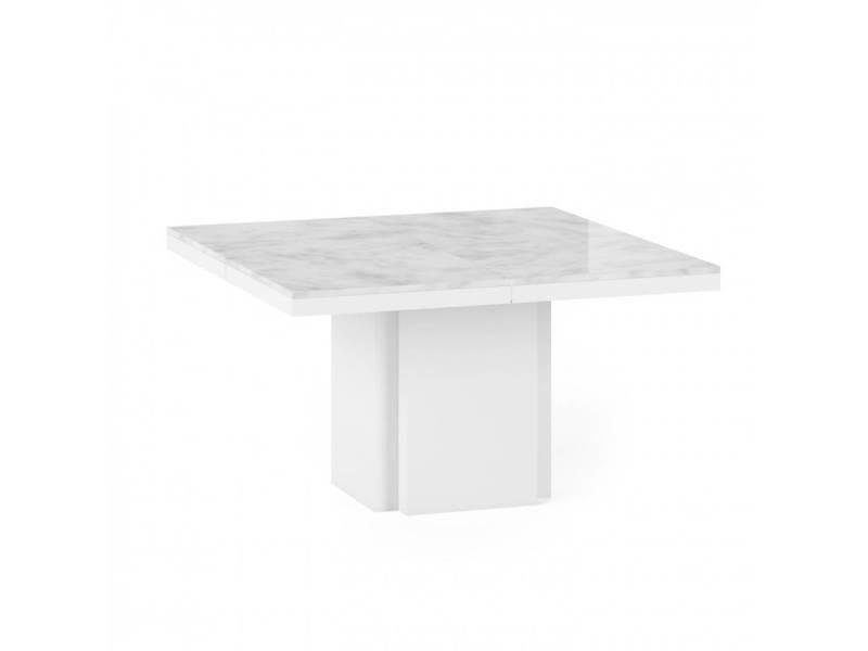 Table de repas wido plateau marbre blanc 20100880057