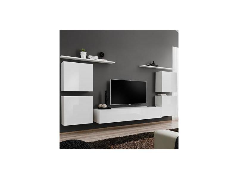 Meuble Tv Mural Blanc Donatello 3 Vente De Kasalinea