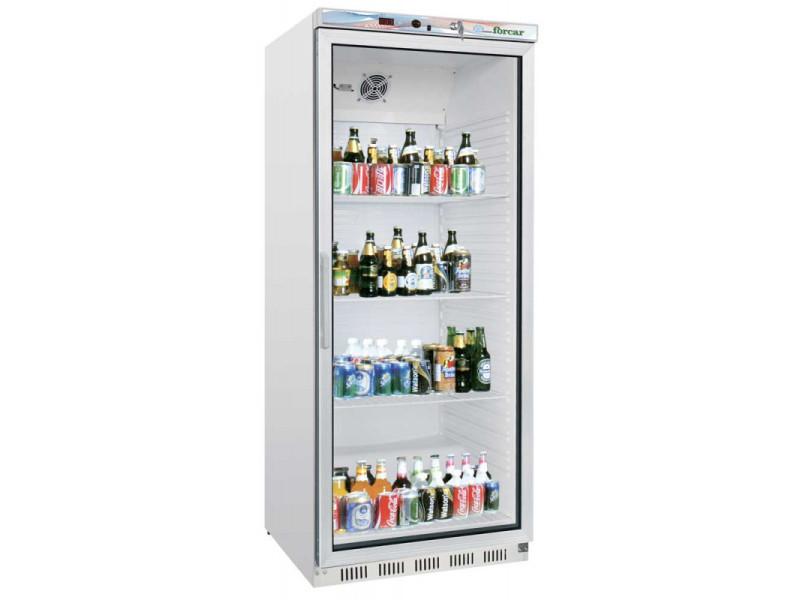 Armoire réfrigérée positive blanche vitrée - 600 litres - 1 porte vitrée