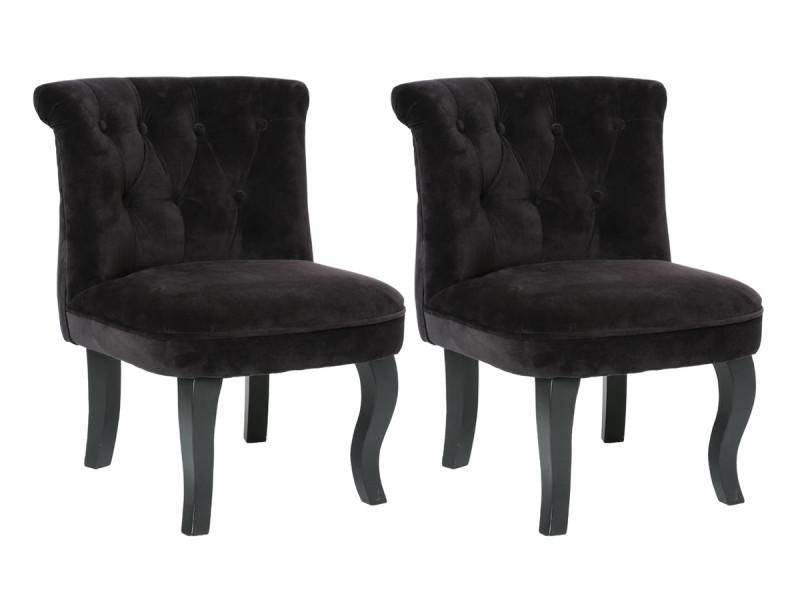 Lot de 2 fauteuils effet velours calixte petit modèle \