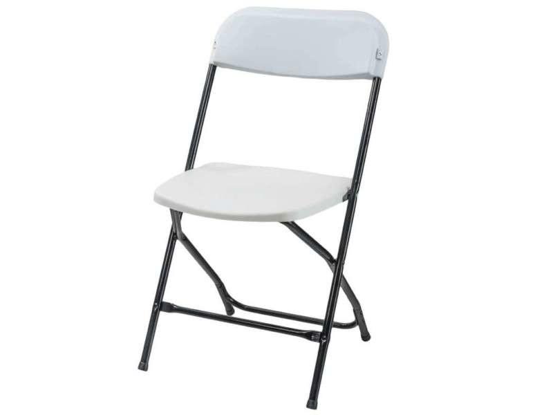 Chaise pliante plastique et métal - Vente de Salon de jardin - Conforama