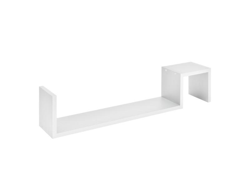 [en.casa] étagère murale blanc mat design rétro model 1