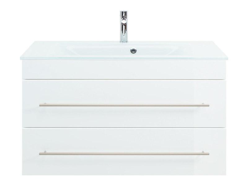 Meuble salle de bain vitro 1000 avec vasque en verre en ...