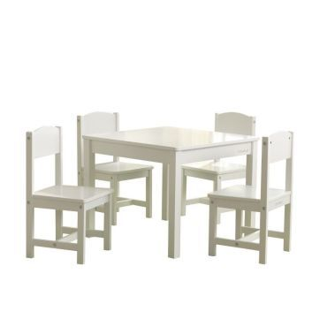 Kidkraft table de ferme avec 4 chaises blanc 425361 Vente