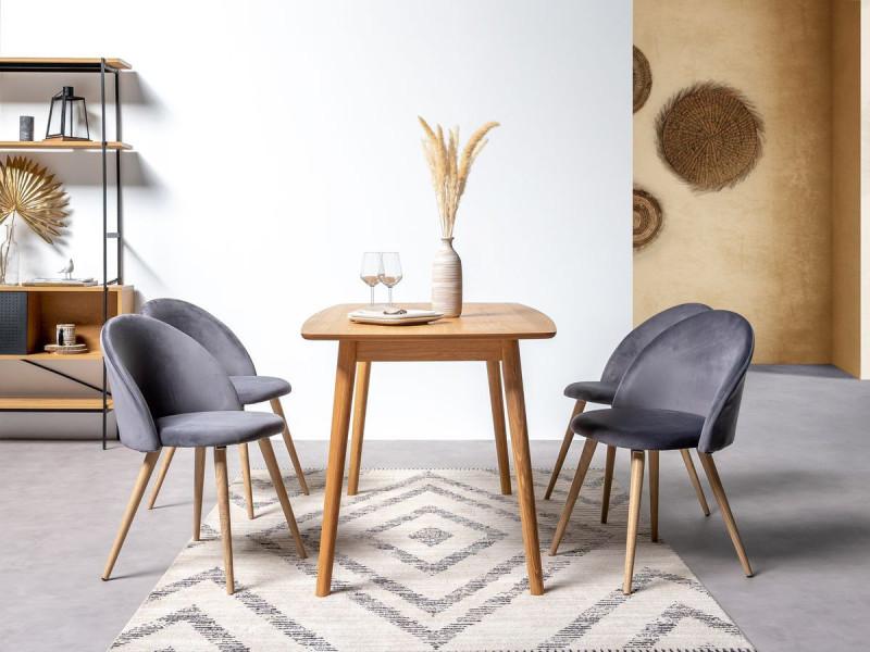Bobochic table à manger nagane en placage chêne chêne 180