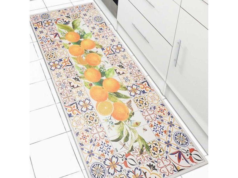 Tapis Pour Couloir Vinyle Fruito Orange 150 X 200 Cm
