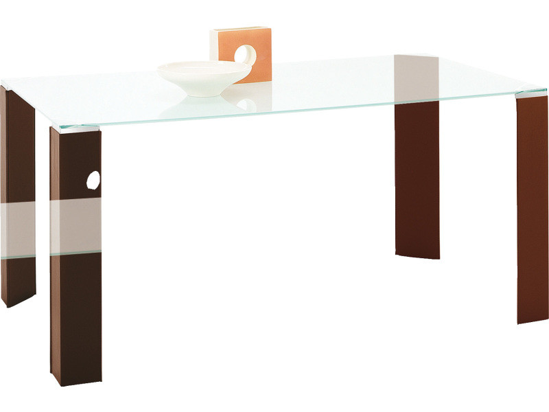 Table rectangulaire plateau verre 160 cm dylan - transparent/transparent - transparent/transparent DOM-TR160.DYLAN-160