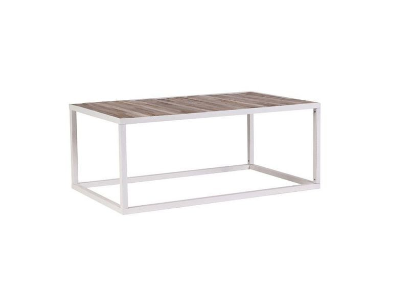 bois 60 de Table basse 100 Vente et blanc métal x rochelle Yfg6by7v