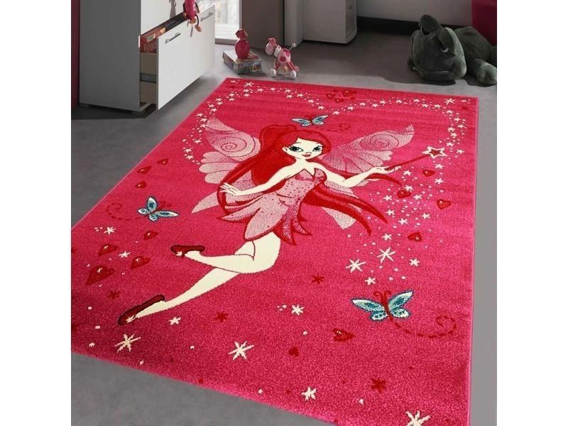 Tapis chambre kids fee rose 60 x 110 cm tapis pour enfants chambre ...