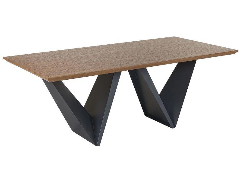 Table marron et noire 200 x 100 cm sintra 129906