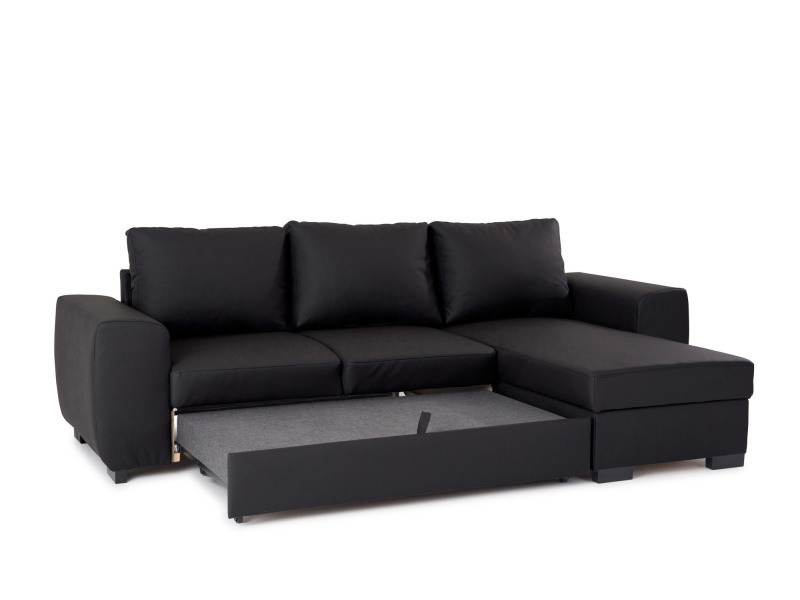 Ogive Canape Angle Convertible Meridienne Coffre Simili Cuir