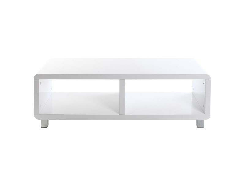 Meuble tv design laqué brillant blanc pixy