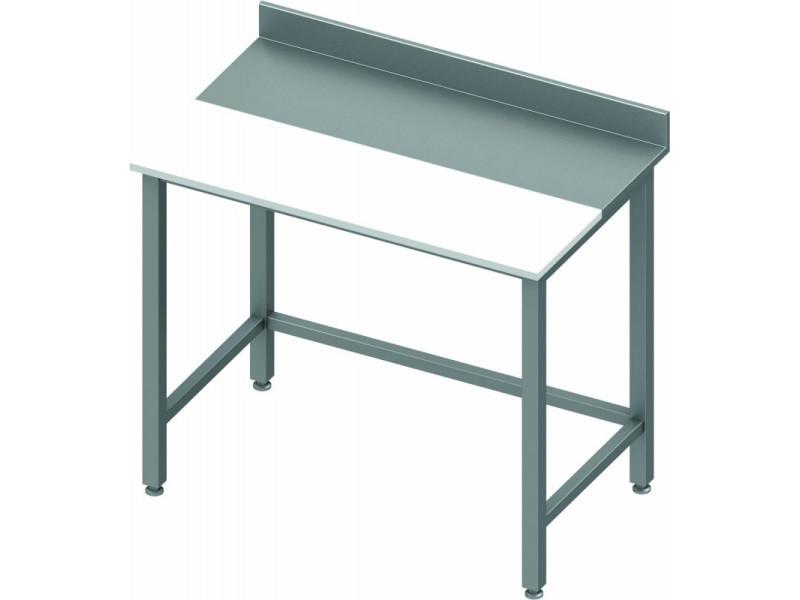 découpe inox Table de cuisine 600 avec profondeur qSUzVpM