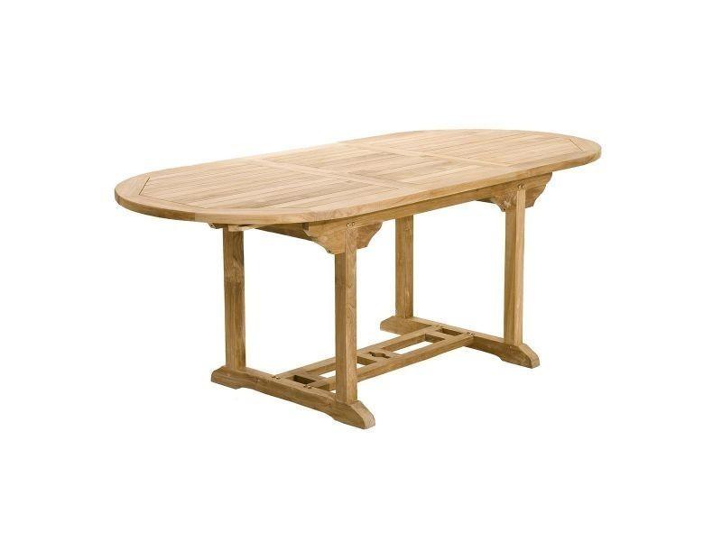 Table de jardin en teck extensible 150/200cm santaluz - Vente de ...