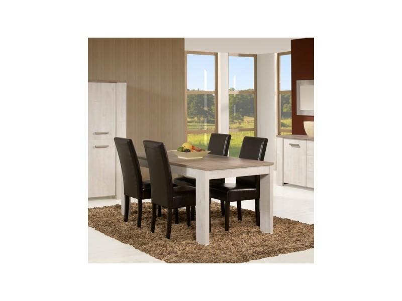 Table de repas 160 cm - humy - l 160 x l 88 x h 75 - neuf