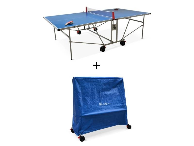 avec ping Table table housse pong bleue outdoor de sa pqVGSUzM