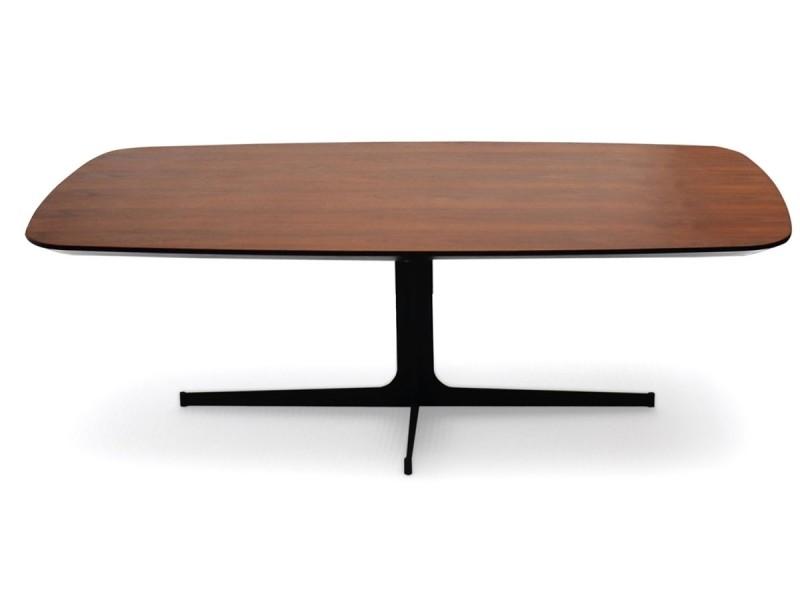 Table basse bois woody - noyer - bois foncé