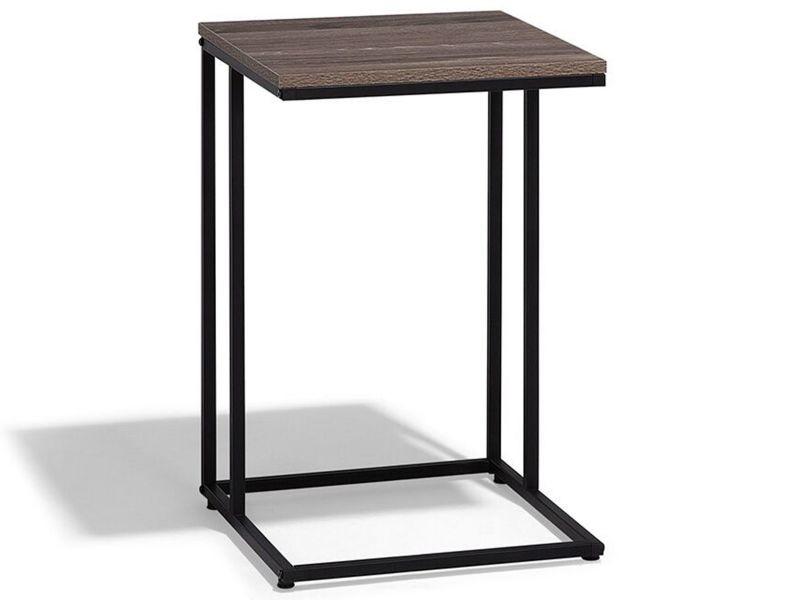 Table basse bois foncé et taupe troy 66424