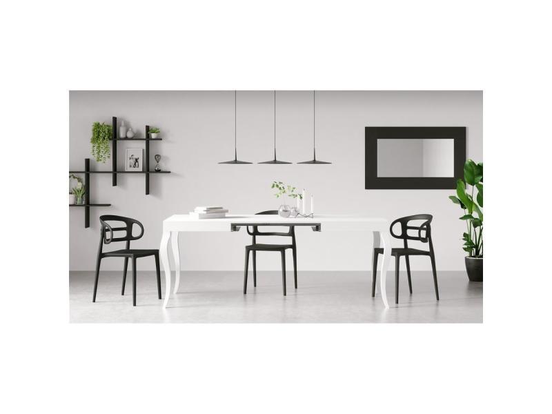 Mobili fiver, lot de 4 chaises de cuisine modernes carlotta