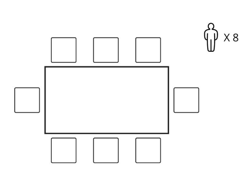 Bobochic table à manger nagane en placage chêne blanc et chêne 180