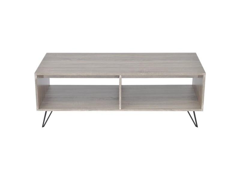Vidaxl armoire tv / table basse 110 x 50 x 40 cm gris 243450