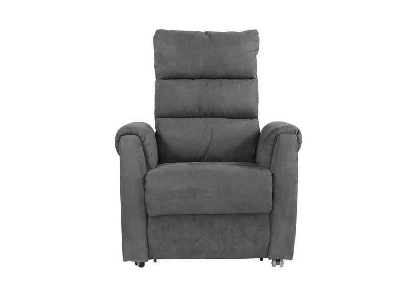 Fauteuil releveur relax électrique gris rome