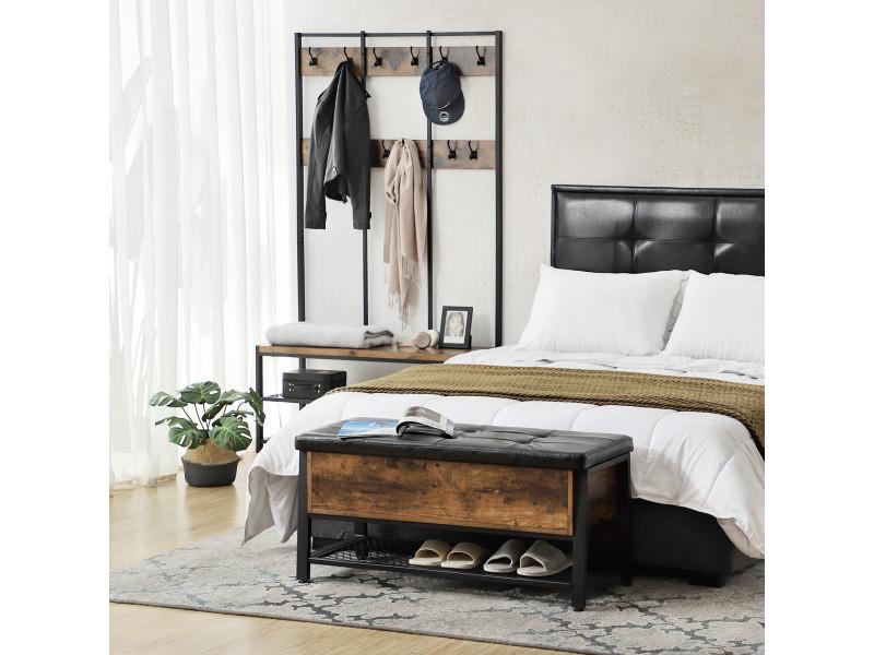 Banc à chaussures de style industriel, tabouret, bout de lit ...