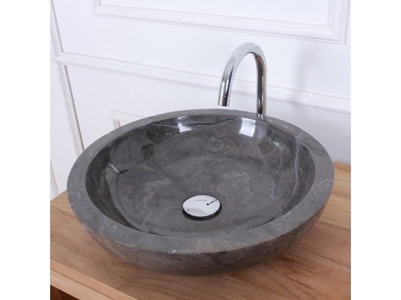 Vasque Bol En Pierre De Marbre Noir 40 Vente De Vasque Et Lavabo