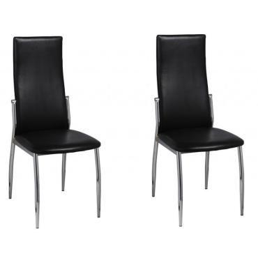 Lot de 2 chaises de cuisine salon salle à manger design