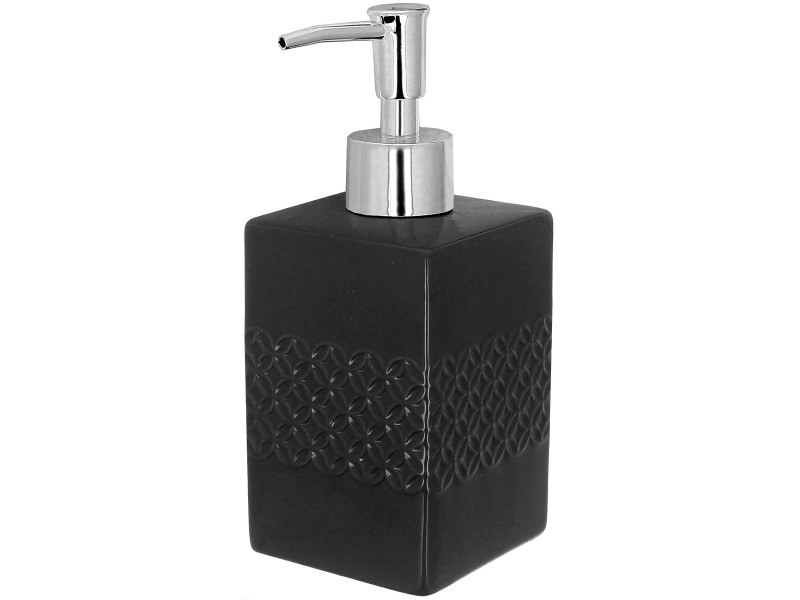 Set salle de bain céramique design relief 3 accessoires ...