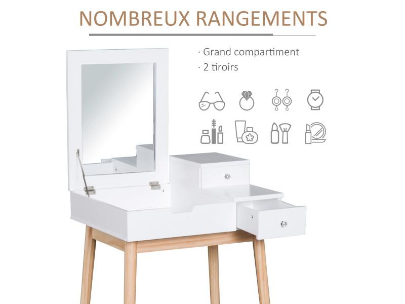 Design Rangements Table Coiffeuse De Maquillage Scandinave Multi KFJcl13T