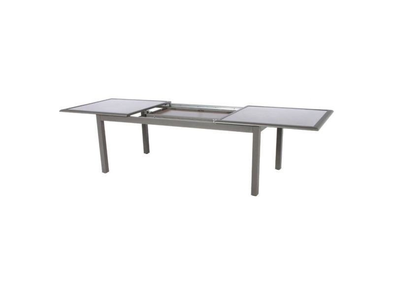 Table azua extensible 12 personnes mastic plateau taupe ...
