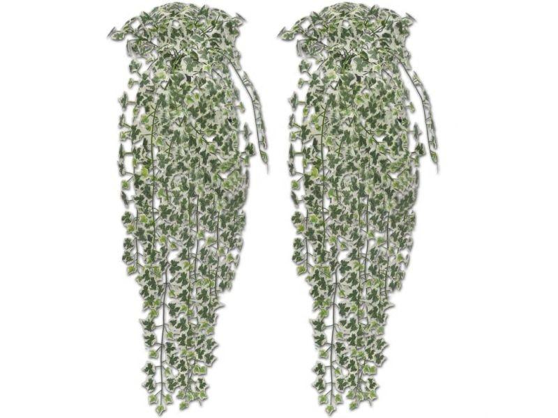 Lot de 2 buissons de lierre artificielle 90 cm vert dec021899