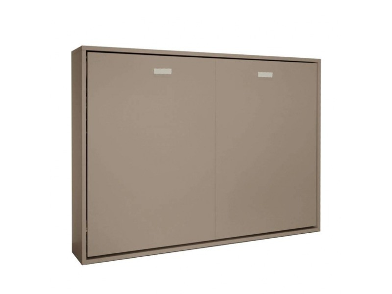 Armoire Lit Horizontale Escamotable Strada V2 Taupe Mat