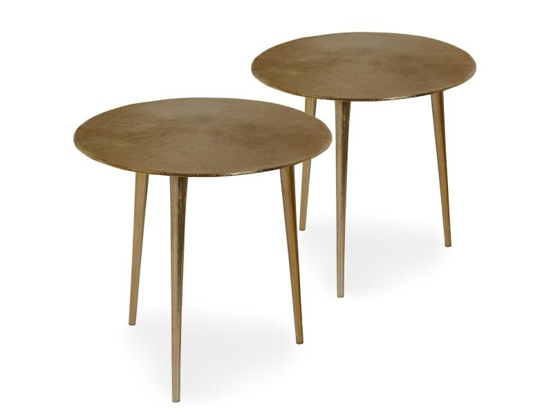 Table d\'appoint erwan bronze - Vente de MENZZO - Conforama