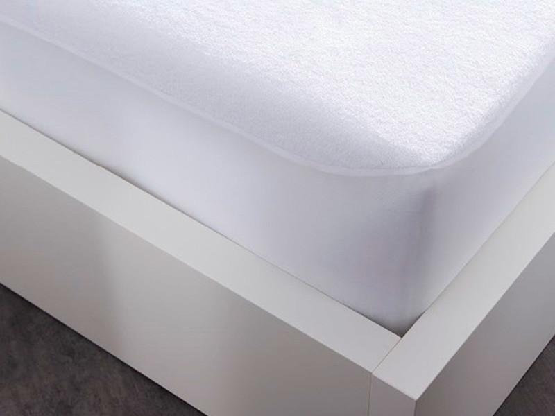Protège Matelas 140x190 Plastifié En éponge Polycoton Blanc Protec