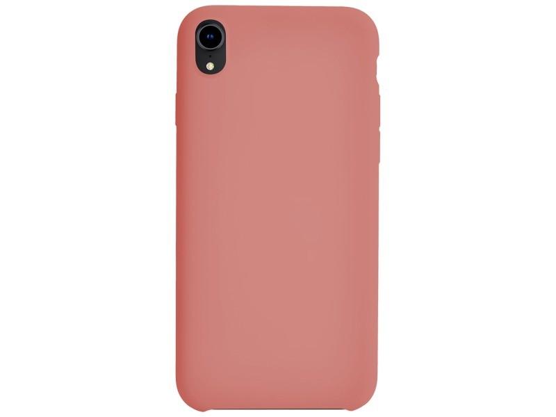 coque iphone xr silicone corail