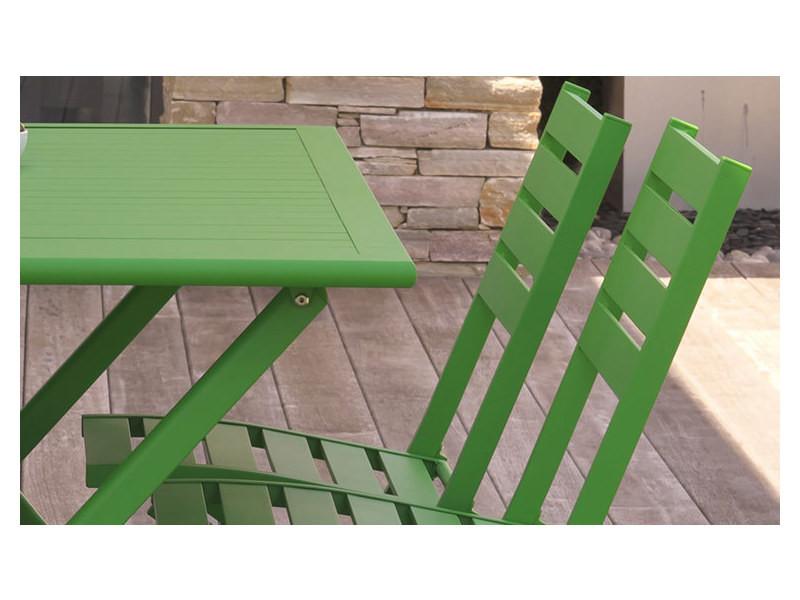Salon jardin vert avec banc 4 places marius - Vente de HOUSE ...