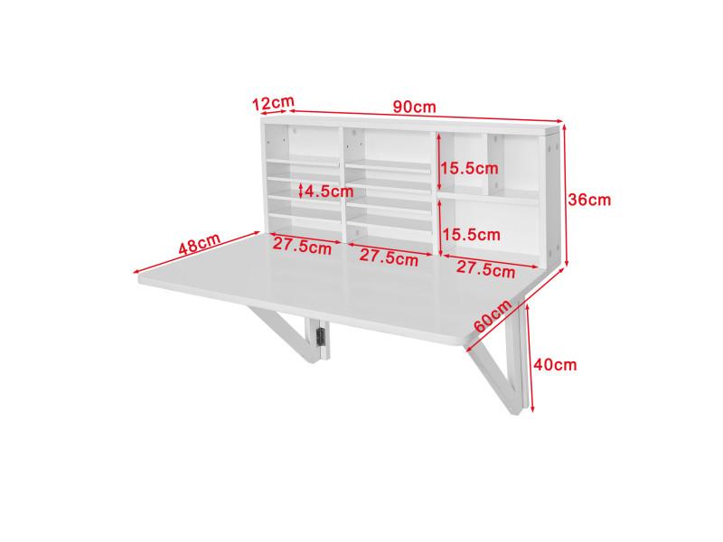 Table Murale Rabattable Avec Etagere Integree Armoire Murale