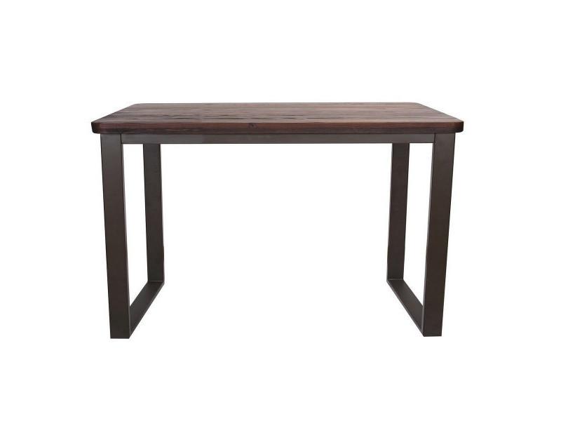 Nevada - table repas 120 cm bois massif foncé