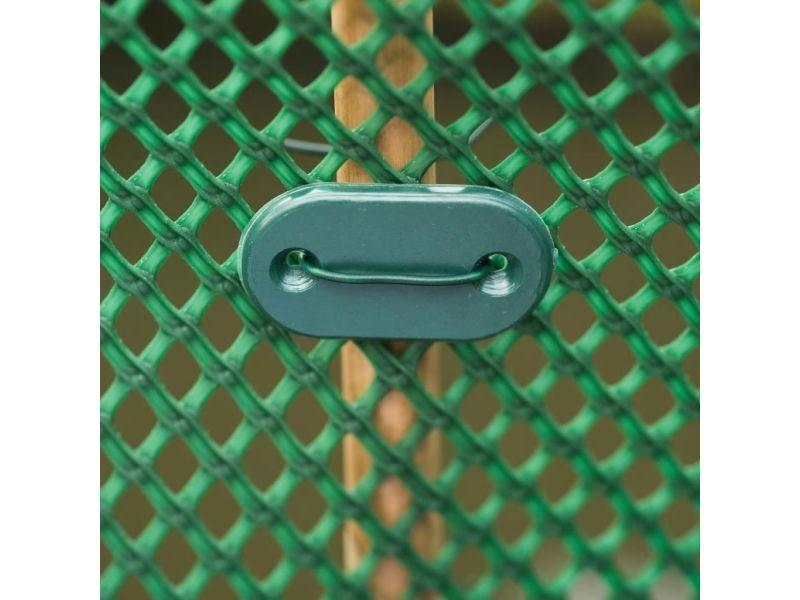 Icaverne - accessoires pour clôtures et portillons gamme nature kit de fixation pour clôture de jardin 27 pcs vert 6050390