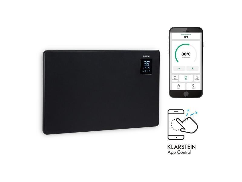 Klarstein bansin smart 1500 - radiateur à convection connecté 1500w , pour 30 m² , thermostat, contrôle par application - noir