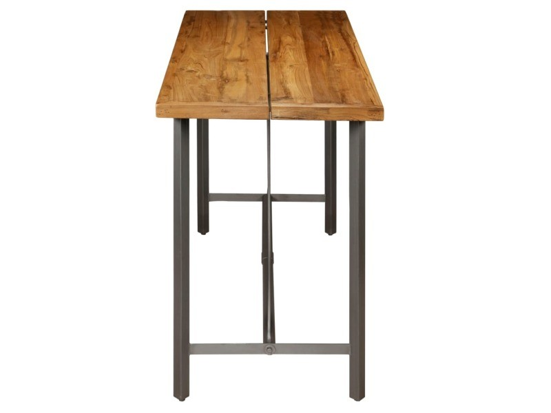 table Vidaxl 70 x cm bar 150 teck de recyclé 106 x massif 80wnkOP