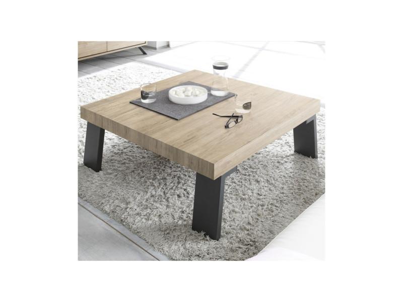 X Table Carrée Palerme H 86 Chêne L Clairmétal 40 Basse CordeBx