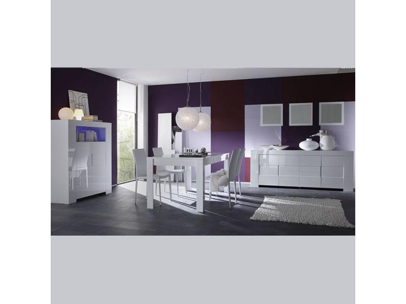 Salle manger compl te design blanc laqu lima vente de - Conforama catalogue salle a manger ...