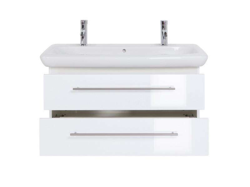 Meuble sdb avec vasque de keramag it! 100 cm à double vasque blanc ...