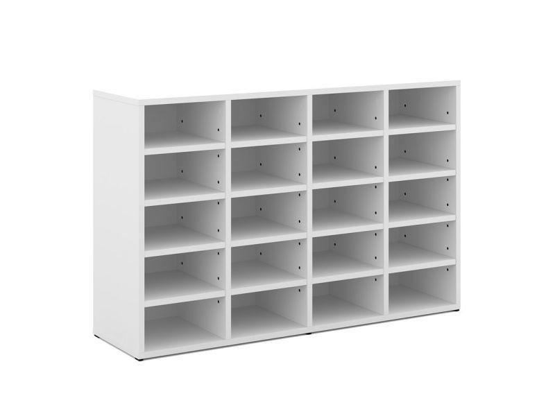 Meuble à chaussures blanc 20 cases - Vente de Meuble à chaussures - Conforama