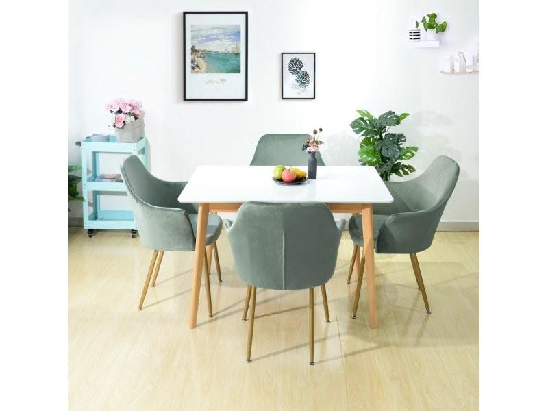Chaise de salle manger en tissu velours r tro moderne - Conforama chaises salle a manger ...