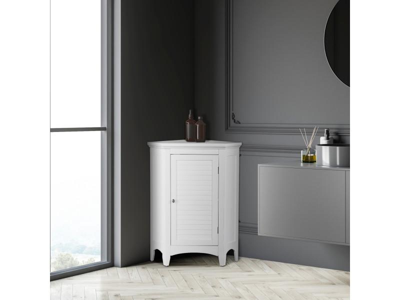 Meuble d 39 angle sur pieds blanc salle de bain ethan teamson - Meuble d angle pour salle de bain ...